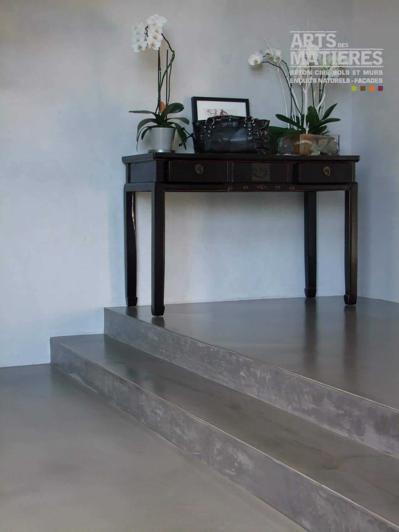 Escalier en b ton cir b ton cir enduits d coratifs naturels by arts des mati res - Beton decoratif toulouse ...