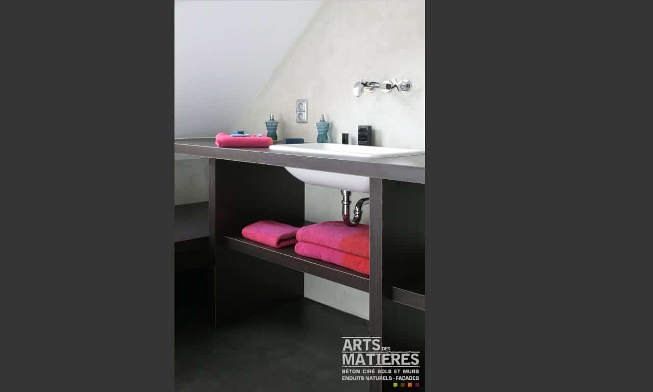 mur beton cire salle de bain artsdesmatieres b ton cir. Black Bedroom Furniture Sets. Home Design Ideas