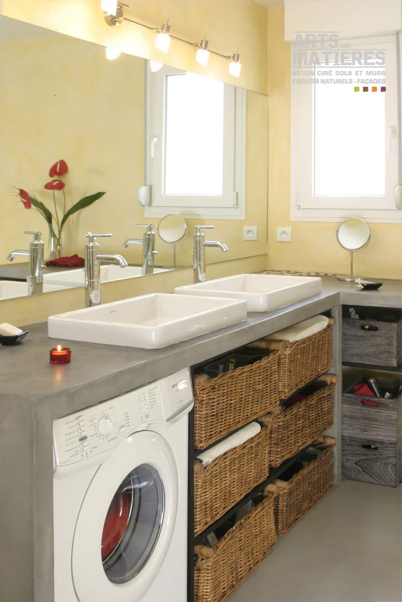 Plan De Toilette Salle De Bain plan de travail en b�ton cir� | b�ton cir� & enduits