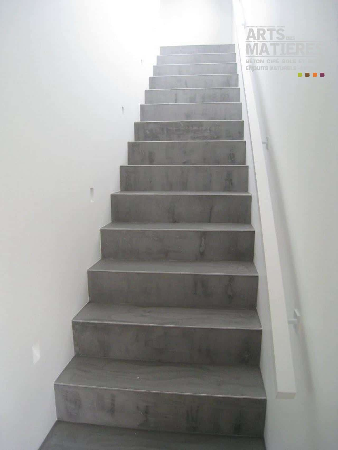 Recouvrir Un Escalier En Béton escalier en béton ciré | béton ciré & enduits décoratifs
