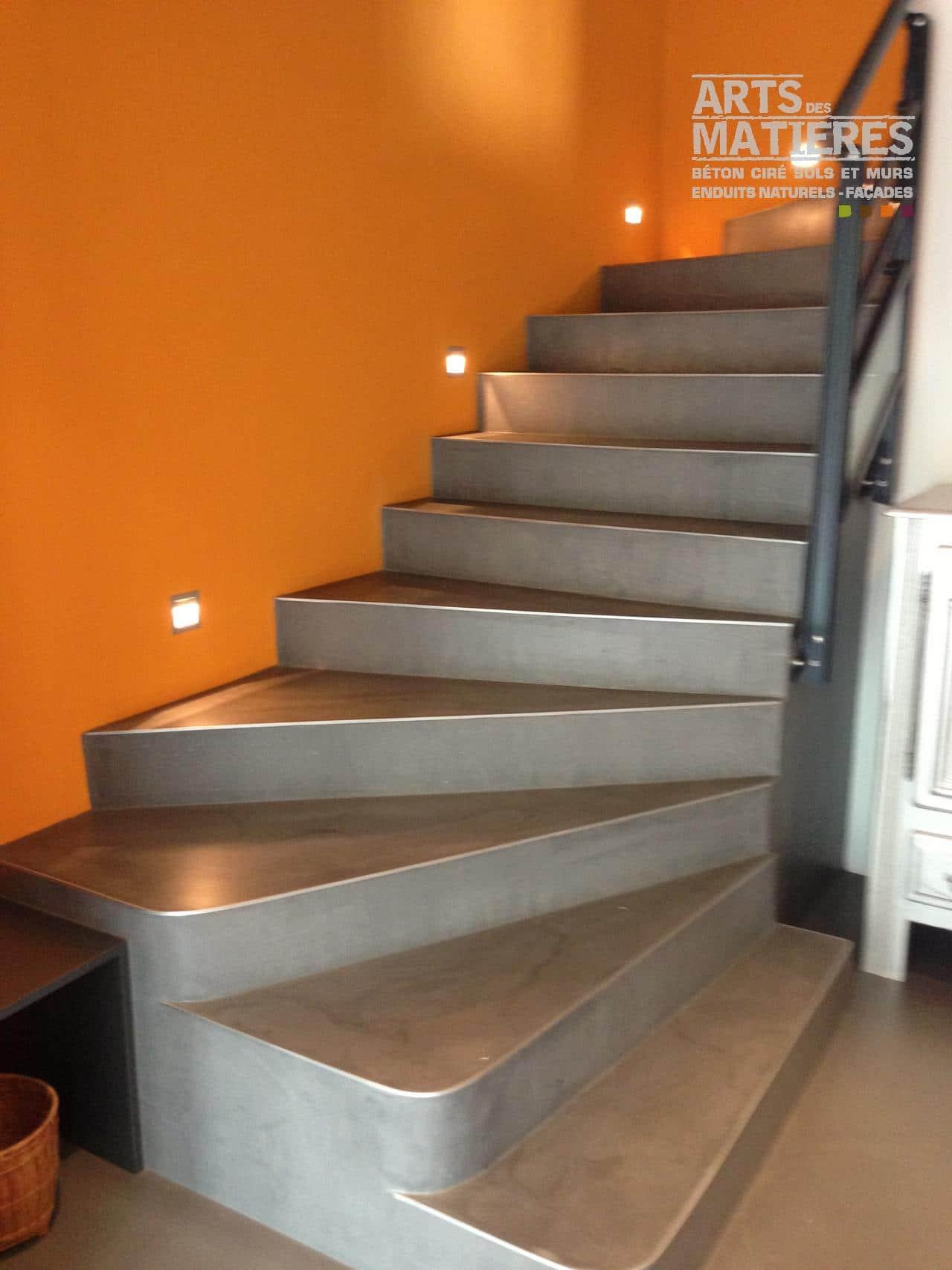 Peindre Un Escalier En Gris escalier en béton ciré | béton ciré & enduits décoratifs