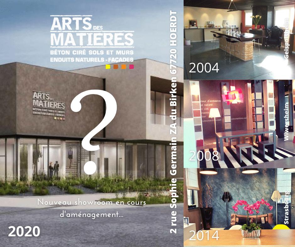 les différents showroom d'Arts des MAtières