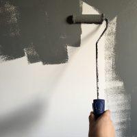 rouleau de peinture grises